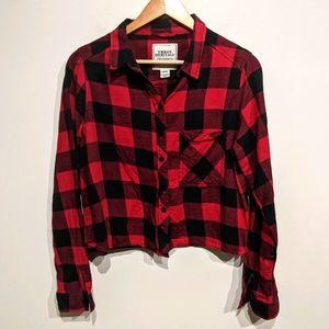 Urban Heritage |Cropped Plaid Shirt
